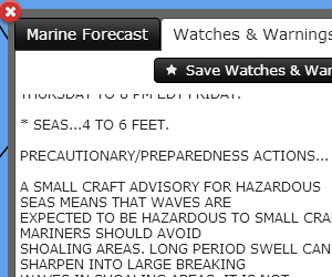 National Weather Service Marine Watches and Warnings
